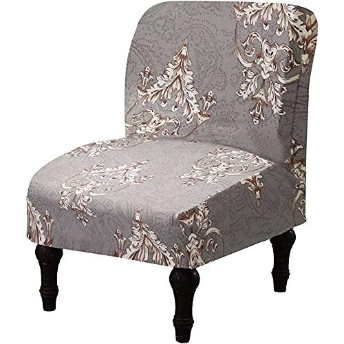 Fundas para sillas de Comedor Fundas elásticas para sillas sin Brazos, Fundas para sillas Decorativas Estampadas Fundas Protectoras elásticas Suaves para Muebles Fundas para sillas Decorativas sin BR