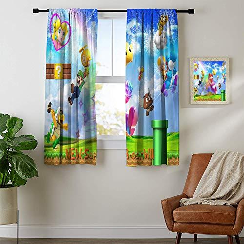 cortinas infantiles cortas super mario