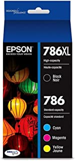 Epson Durabrite Ultra 786xl High Yield Black and 786 Standard Color C/m/y Ink Cartridges - T786xl-bcs