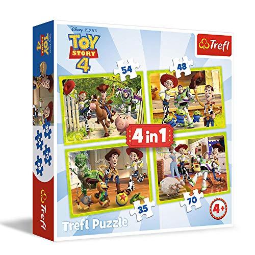 trefl - Puzzle 4 en 1 modelo Toy Story 35-48-54-70 piezas 34312, multicolor , color/modelo surtido