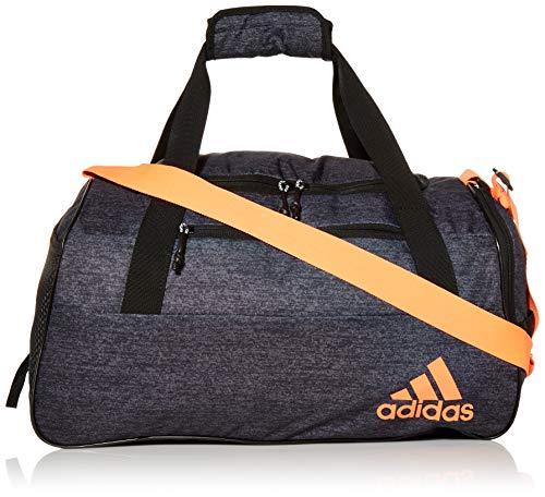 Adidas Squad III Duffel Bag, Unisex-Erwachsene, Squad IV Duffel, Jersey Schwarz / Signalkoralle, Einheitsgröße