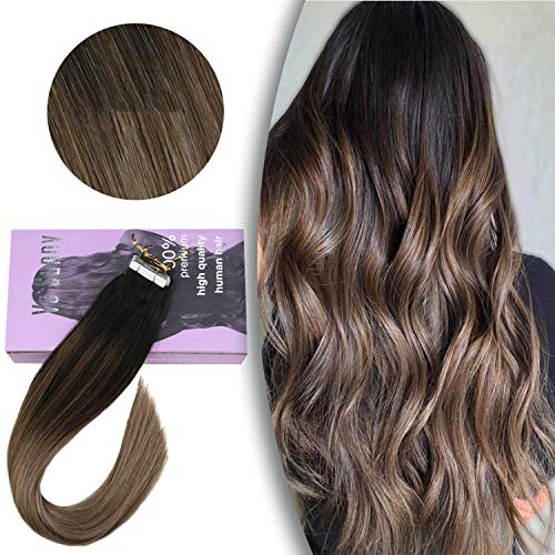 VeSunny Ombre Dirty Blonde Tape in Hair Extensions