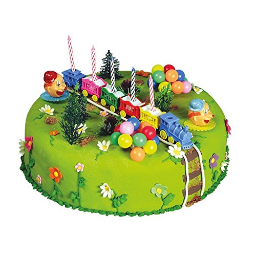 Mytortenland Zug & Clown - Luftballon Torten Deko Set