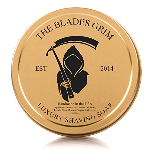 The Blades Grim Gold Luxury Shaving Soap, Smolder by The Blades Grim