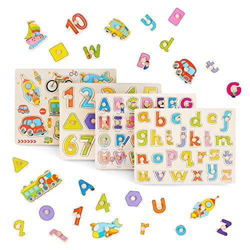 THE TWIDDLERS 4 Giocattolo Educativo Puzzle in Legno per Bambini - Colori Vivaci