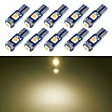 T5 LED Bulb Dashboard Dash Lights Warm White 3030 SMD Wedge Base for Car Truck Instrument Indicator Air...