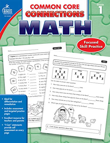 Carson Dellosa   Common Core Connections Math Workbook   1st Grade, 96pgs