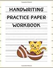 Handwriting Practice Paper Workbook: Lined Paper Notebook For Tracing Letters And Writing Notebooks For Kindergarten Kids With Cut Cat