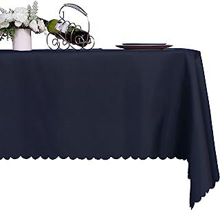پارچه سفره ای مستطیلی LUSHVIDA - رومیزی تزئینی رومیزی میکرو الیافی با مقاومت در برابر آب قابل شستشو برای میز ناهار خوری آشپزخانه مهمانی ، نیروی دریایی 60 X 84 اینچ