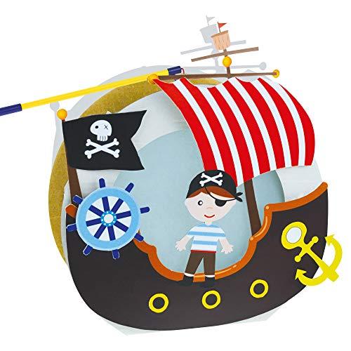 Tib Heyne 13456 Bastelset Laterne Pirat auf Schiff, Mehrfarbig, Einheitsgröße