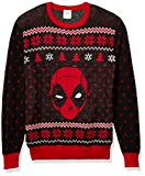 Marvel Men's Ugly Christmas Sweater, Deadpool/Red, Small