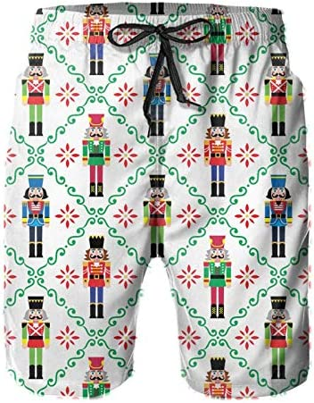 YISHOW Christmas Nutcracker Men s Beachshort Swimming Trunk Pants with Pockets product image