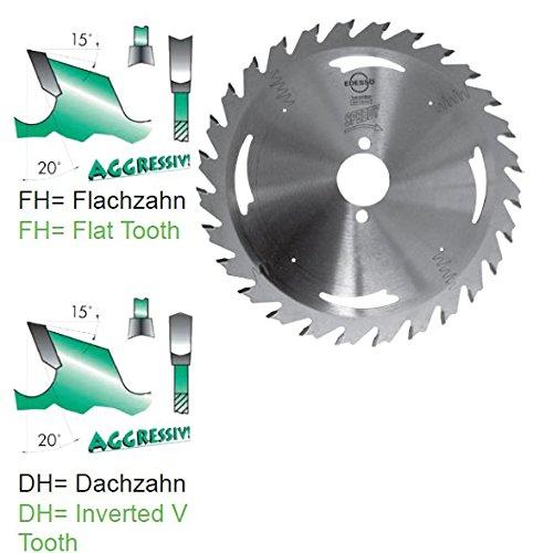 HW Handkreissägeblatt SPEEDY Verschiedene Durchmesser Flachzahn-Hohlzahn (150x16 mm Z=24)