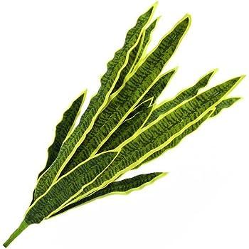 60cm Decorazione Tropicale//Sanseveria Finta per Esterni Verde-Giallo artplants.de Pianta di sansevieria Artificiale con Gambo