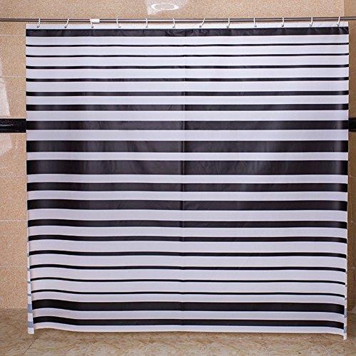 Rideaux de douche Salle de bains épaississement chaud rideau imperméable Rideaux suspendus de hublot de douche-A 120x200cm(47x79inch)