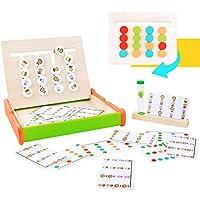 🏆Divertenti giochi di smistamento educativi - Con 18 carte diverse, i bambini possono giocare alle attività montessori felicemente spostando i blocchi nella stessa posizione delle carte in un tempo limitato. 🏆Giocattoli per l'apprendimento degli anim...