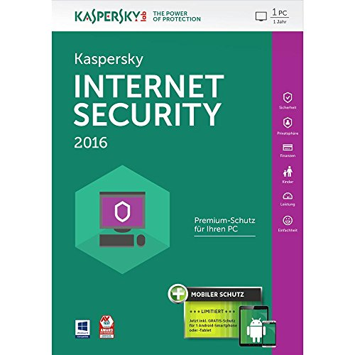 Kaspersky Internet Security 2016 - 1 PC / 1 Jahr + Android Security [import allemand]