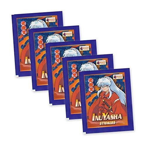 InuYasha Merlin Stickers Sticker - 5 Booster 30 Sticker - deutsche Ausgabe