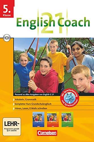 English G 21 - Lernsoftware - English Coach 21 (zu allen Ausgaben) - Version für zu Hause: Band 1: 5. Schuljahr - CD-ROM: 5. Schuljahr. Für alle ... allen Ausgaben) - Lernsoftware für zu Hause)