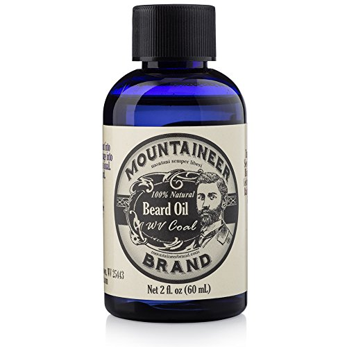 Beard Oil by Mountaineer Brand (2oz) | Premium 100% Natural Beard Conditioner (WV Coal)