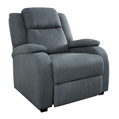 Invicta Interior Relaxsessel Hollywood grau Stoff verstellbar Liegesessel Sessel Fernsehsessel Wohnzimmer mit Liegefunktion Strukturstoff