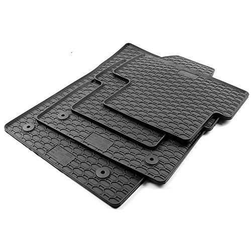 All4You Gummimatten Original Qualität Fußmatten 100% passgenau Schwarz Gummi 4-teilig fahrzeugspezifisch