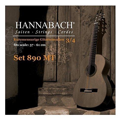 Hannabach cordes de guitare classique série 890 3/4 guitare enfants Mensur: 57-61cm - Mi