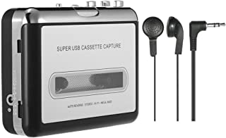 TOOGOO Portable Cassette Player Portable Tape Player Captures Cassette Recorder via USB Compatible with laptops and PC Con...