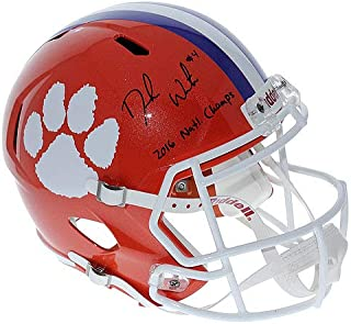 Deshaun Watson Autographed Signed Clemson Tigers Full Size Speed Replica Helmet - 2016 Natl. Champs Inscription - PSA/DNA Authentic