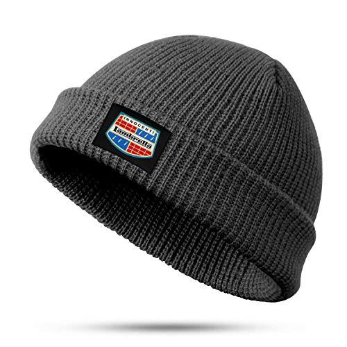 XQHNG 655-Lambretta-Innocenti-Badge Men Women Fine Knit Fisherman Beanie Cool Skull Cap