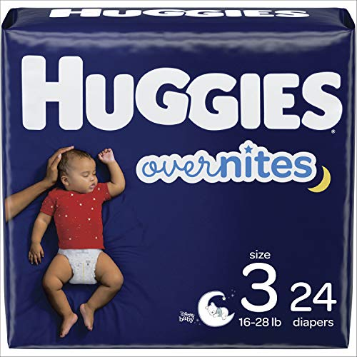 HUGGIES OverNites Diapers, Size 3, 24 ct.,...