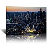 Hd Print CenturyLink Field Downtown Seattle Aerial View of Waterfront Seattle Seahawks Stadium (A,16x24 inch- frame)