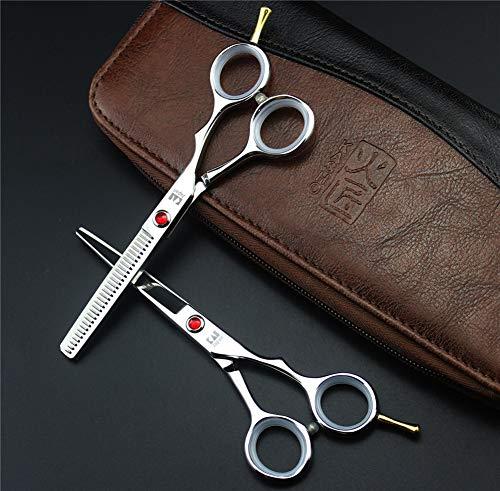 SYLL 5.5 Pouces Simple Queue Ciseaux de Coiffure Ciseaux de Coupe de Cheveux Ciseaux à Dents Plates Ciseaux à effiler Ciseaux coiffeurs Salon de Coiffure Coupe Hommes et Femmes