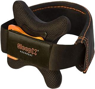 SleepX neckrest- Premium Cuscino da Viaggio, Mento reggisella: Meglio Come Il Cuscino per Il Collo, Cuscino cervicale, Ide...