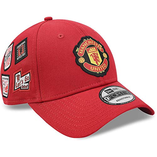 New Era 9Forty Cap - Multi Patch Manchester United rot