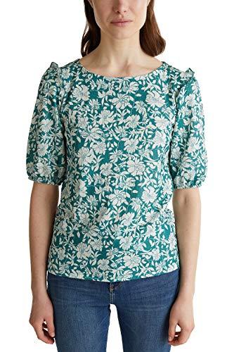 ESPRIT 030EE1K411 T-Shirt, 371/Verde Teal 2, XL Donna
