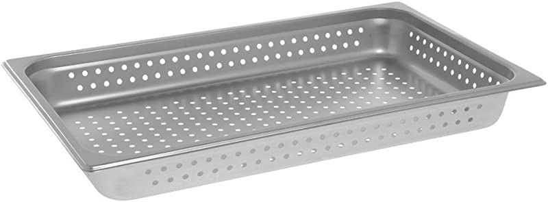 HUBERT Steam Table Pan Full Size 24 Gauge Stainless Steel Perforated 2 1 2 D