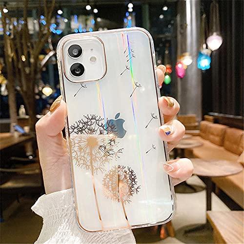 Estuche para teléfono con Purpurina para iPhone 12 11 Pro MAX 12 Mini XR XS MAX X 7 8 Plus 12 11Pro Parachoques a Prueba de Golpes Cubierta Trasera Transparente-For_iPhone_12_T1