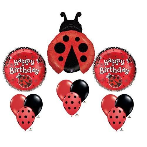 "Pack Of 50 Burton /& Burton 11/"" Red With Black Dots Balloons"