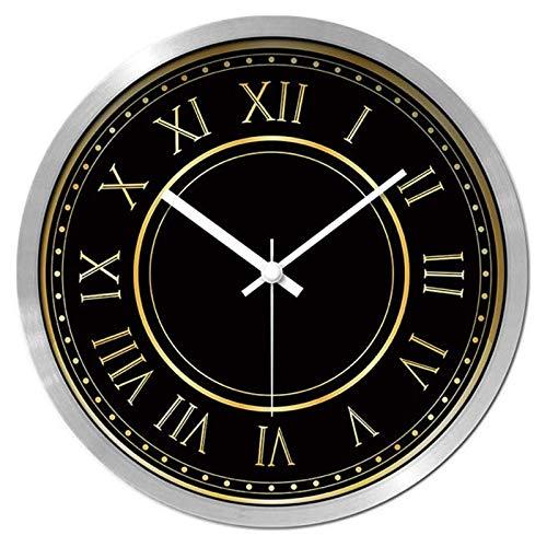 AIOJY Número Romano Reloj De Pared Simple Home 12 Pulgadas 14 Pulgadas Reloj Mute Reloj Sala De Estar Dormitorio Reloj De Cuarzo