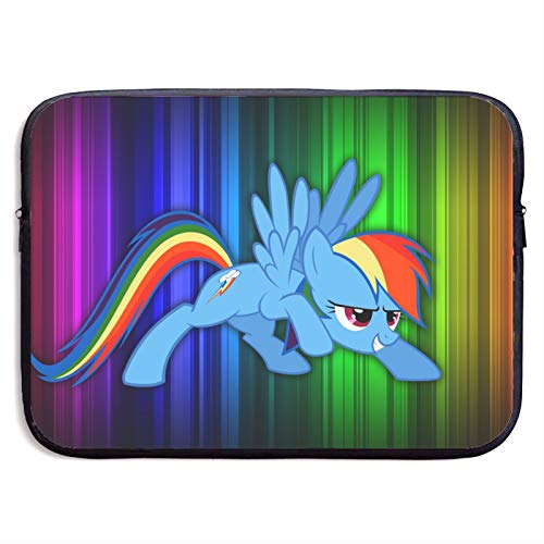 Rain-Bow Da-sh My Little Po-ny Laptop Sleeve, Laptop Protective Bag, Neoprene Computer Sleeve Case Shockproof Water-Resistant Notebook Carrying Cover for 13 inch MacBook Pro, MacBook Air, Notebook