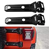 MOEBULB Tailgate Hinge Cover Spare Tire Bracket Rear Door Liftgate Trim Stickers Compatible with Jeep Wrangler JL 2018 2019 2020 2021 (Black,2-Pack)
