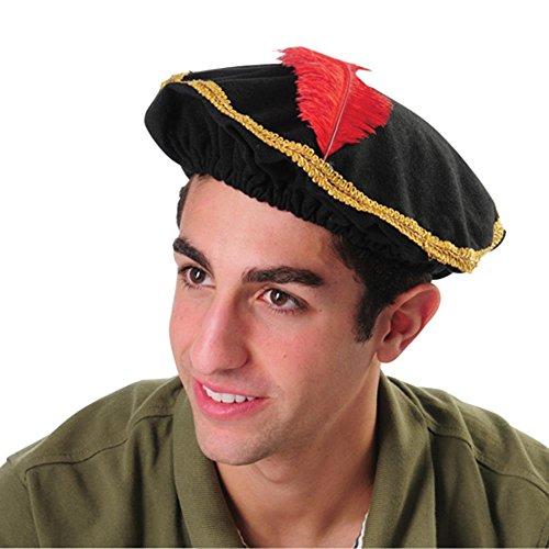 U.S. Toy Renaissance Hat, Black, Red, Gold (SS-UST-H528)