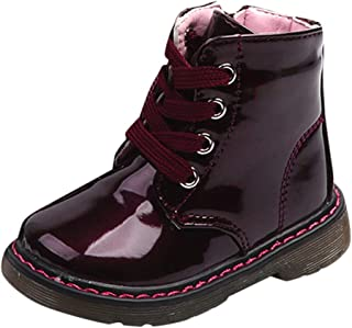 LNGRY Shoes,Toddler Kids Baby Girls Boys Fashion Warm Lace Up Zipper Martin Boots Snow Sneaker Shoes