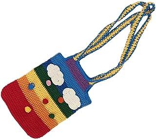 WINOMO Mode Gestrickte Tasche Praktische Gestrickte Tasche Gestrickt Umhängetasche (Bunte)