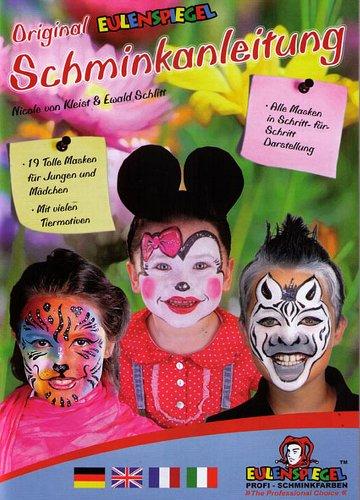 Eulenspiegel Anleitungsbroschüre mit 19 Masken-Designs.