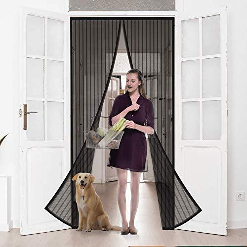 MILLETER Magnetic Screen Door, Full Frame Door Curtain with Heavy-Duty Mesh, Self Sealing Hands Free Easy Velcro Tape Installation, Pet and Kid Friendly, Fits Door Size 38'' x 82''