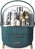 BE-STRONG Organizador De Almacenamiento De Maquillaje, con Tapa Y Cajón Transparente, Fácil Organizar Productos para El Cuidado De La Piel Impermeable Adecuado para Cómoda De Dormitorio,Verde