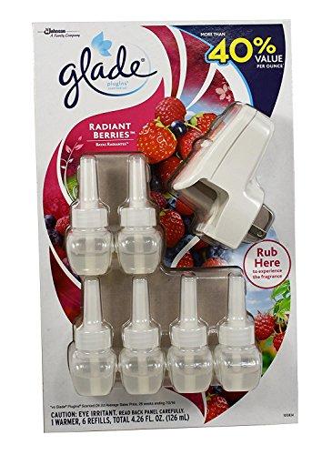 Glade Plugins Radiant Berries 1 Warmer Plus 6 Refills