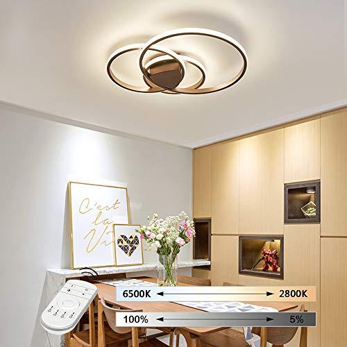 Hil plafondlamp, rond, voor slaapkamer, eenvoudige sfeer, creatieve persoonlijkheid, smeedijzer, dimbaar, ijzer 55 * 8CM Blue